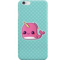 Kawaii Pink Narwhal iPhone Case/Skin