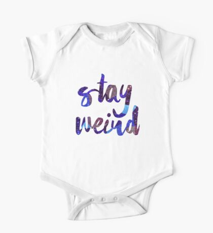 Stay Weird Colorful Typography Art One Piece - Short Sleeve