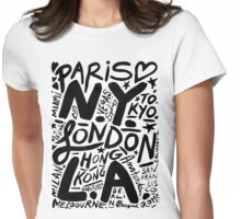 City Love Womens Fitted T-Shirt