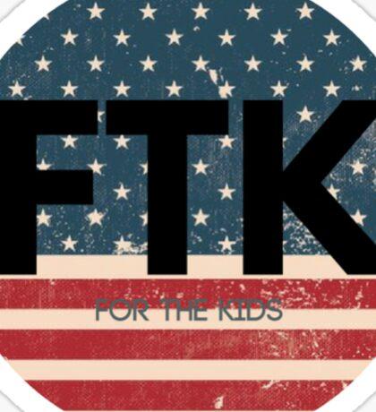 American Flag FTK Sticker