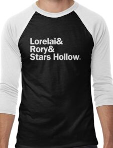 Gilmore Girls - Lorelai & Rory & Stars Hollow   Black Men's Baseball ¾ T-Shirt