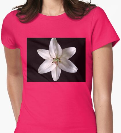 Lily of Purest White Womens Fitted T-Shirt