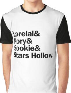 Gilmore Girls - Lorelai & Rory & Sookie & Stars Hollow   White Graphic T-Shirt