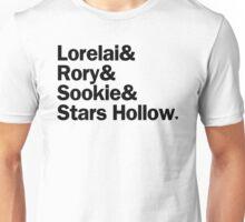 Gilmore Girls - Lorelai & Rory & Sookie & Stars Hollow | White Unisex T-Shirt