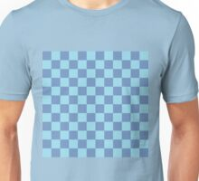 Checkered Blue/Gray and Pastel Blue  Unisex T-Shirt