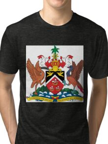 The Coat of Arms of Trinidad and Tobago Tri-blend T-Shirt