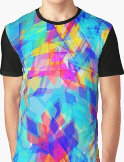 Colourful Geometric Pattern Graphic T-Shirt