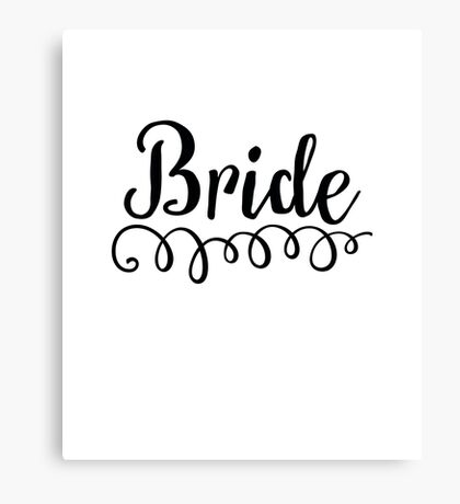 BRIDE Canvas Print