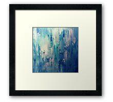 Absract Blue Paint Framed Print