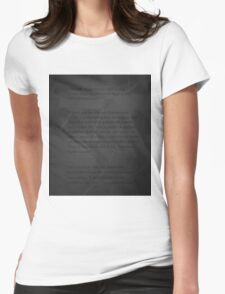 Digging into the Subconscious Womens Fitted T-Shirt