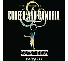 COHED AND CAMBRIA - SAVES THE DAY POLYPHIA - NORTH AMERICA 2016 Photographic Print