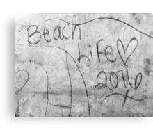 Beach Life 2016 Graffiti Canvas Print