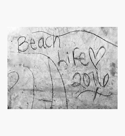 Beach Life Graffiti Photographic Print