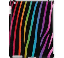 Bright Rainbow Zebra iPad Case/Skin