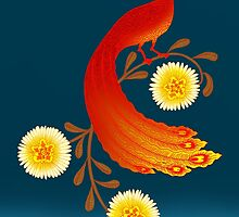 Folk Art Firebird by SusanSanford