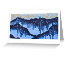 Universe Inside a Foggy Forest Greeting Card