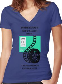 Pacific Ocean Film Festival  Women's Fitted V-Neck T-Shirt