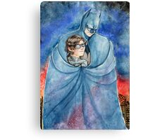 Cold night in Gotham... Canvas Print