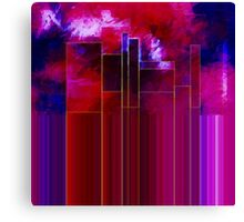 A Stormy Night in the City Canvas Print