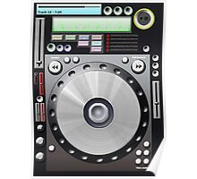 DJ decks Poster