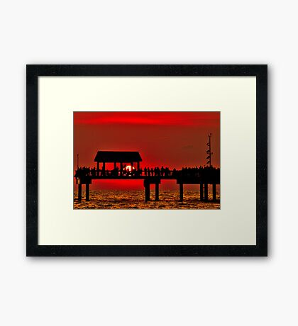 Touching The Sunset Framed Print