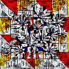 Daisy Abstract after Mondrian by Dana Roper