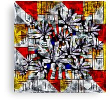 Daisy Abstract after Mondrian Canvas Print