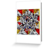 Daisy Abstract after Mondrian Greeting Card