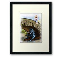 The Troll Bridge Framed Print
