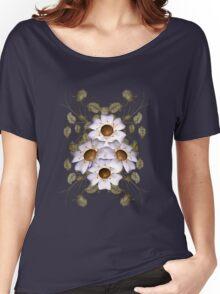 Golden Hearts ... enchanting flower design Women's Relaxed Fit T-Shirt