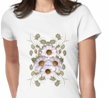 Golden Hearts ... enchanting flower design Womens Fitted T-Shirt