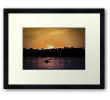 Sunset at Point Walter, W.A. Framed Print
