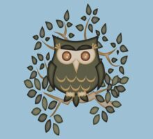 Mr Toot .. The Wise Owl One Piece - Short Sleeve