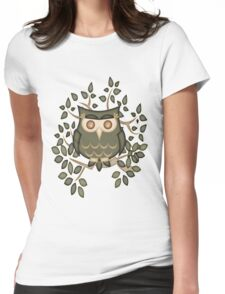 Mr Toot .. The Wise Owl Womens Fitted T-Shirt