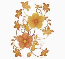 Shades of yellow .. flower design Kids Tee