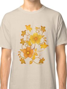 Shades of yellow .. flower design Classic T-Shirt