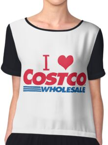I love Costco Chiffon Top
