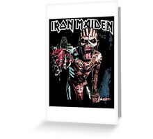 iron maiden the book of souls t shirt Greeting Card