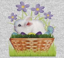 Bunny in a basket .. T-Shirt Kids Clothes