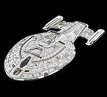 USS Star Trek Voyager by surgedesigns