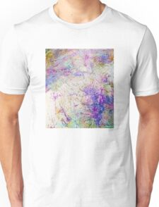 Funky abstract colorful ink design Unisex T-Shirt