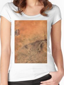 Timbuktu Niger River Mali Satellite Image Women's Fitted Scoop T-Shirt
