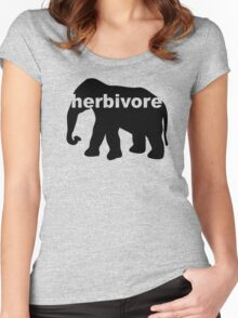 Herbivore (elephant) Women's Fitted Scoop T-Shirt