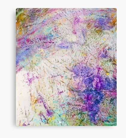 Funky abstract colorful ink design Canvas Print