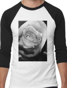 Rose Black and White Men's Baseball ¾ T-Shirt