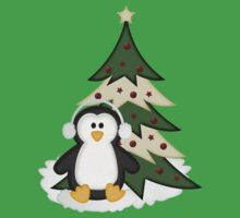 Christmas Penguin  Kids Tee