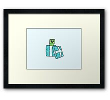 Ssssurprise! Its a Baby Creeper! Framed Print