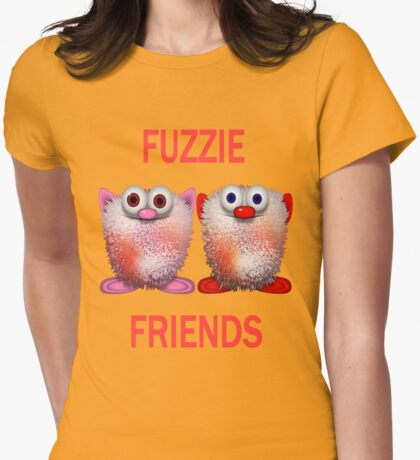 Fuzzie Friends .. Tee Shirts Womens Fitted T-Shirt