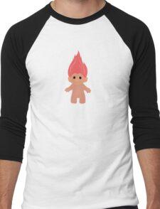 Pink Troll Men's Baseball ¾ T-Shirt