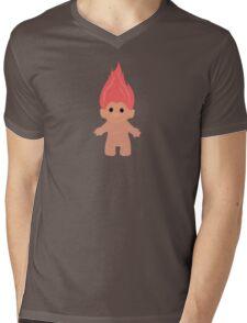 Pink Troll Mens V-Neck T-Shirt